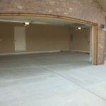Three Car Garage Open